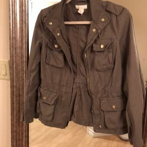 H&M military green jacket